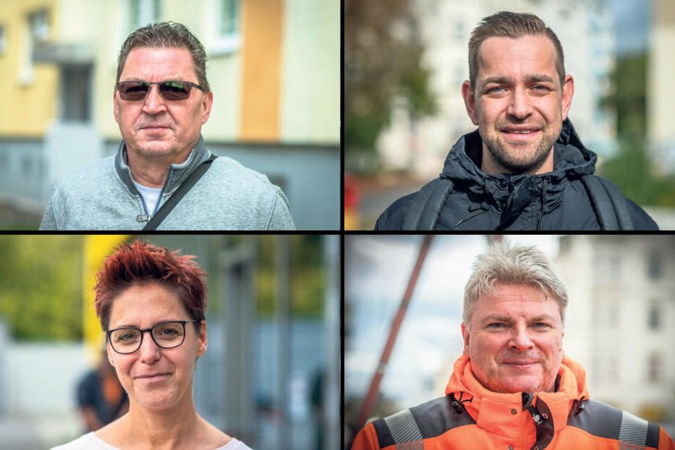 Oben: Jens Eisenfeld (57, l.) und Marcel Woelki (33). Unten: Katja Kramer (42) und Steffen Weise (53).
