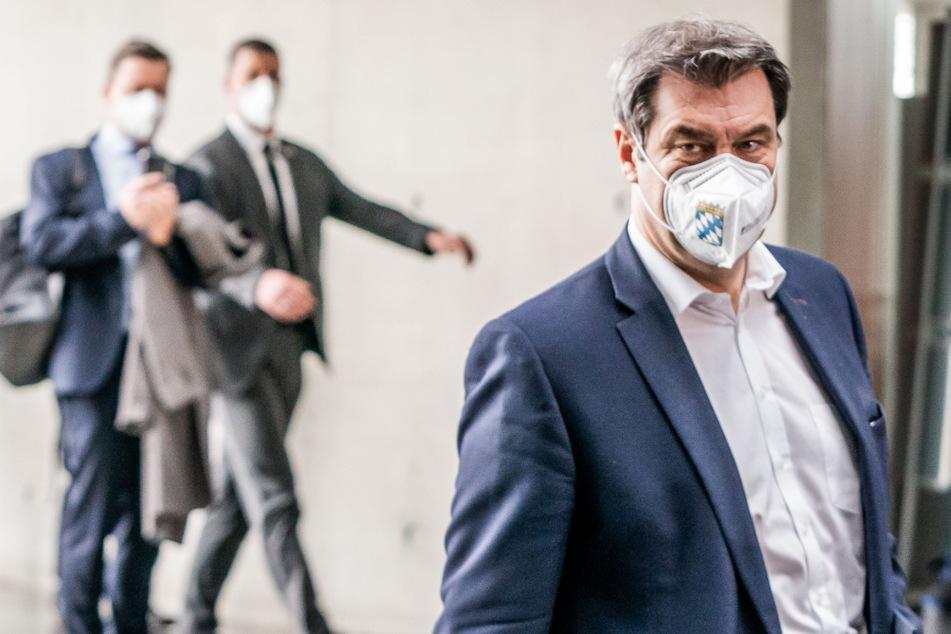 Machtkampf in der Union: Was hat Söder auf Pressekonferenz zu sagen?