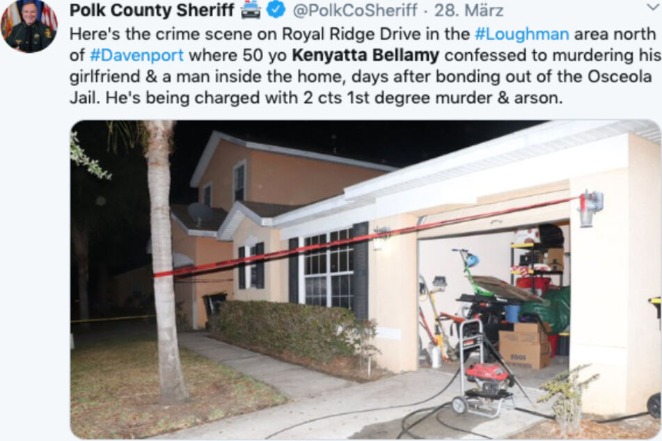 Der Tweet des Polk County Sheriff.