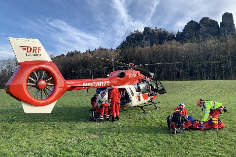 Dresden: Kletterer stürzt in der Sächsischen Schweiz ab und wird schwer verletzt