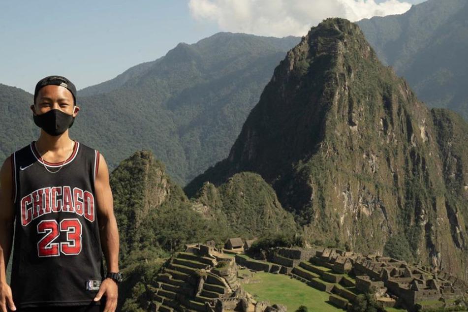 Jesse Katayama was the first tourist to visit Machu Picchu after lockdown.