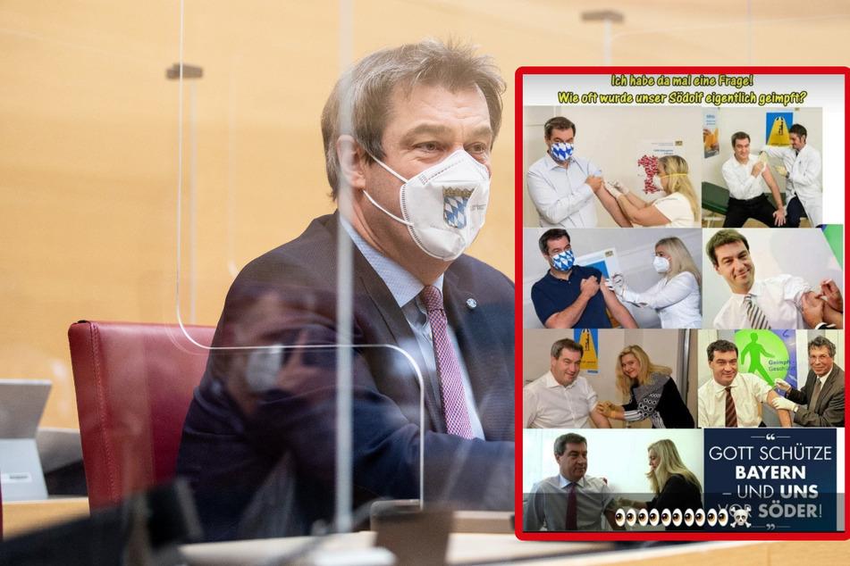 Markus Söder schon gegen Corona geimpft? Fake-News verbreiten sich auf Facebook