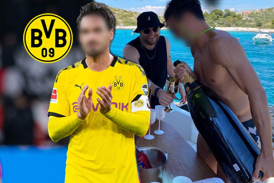 Prost! Welcher BVB-Star gönnt sich denn hier eine Champagner-Flasche für 1800 Euro?