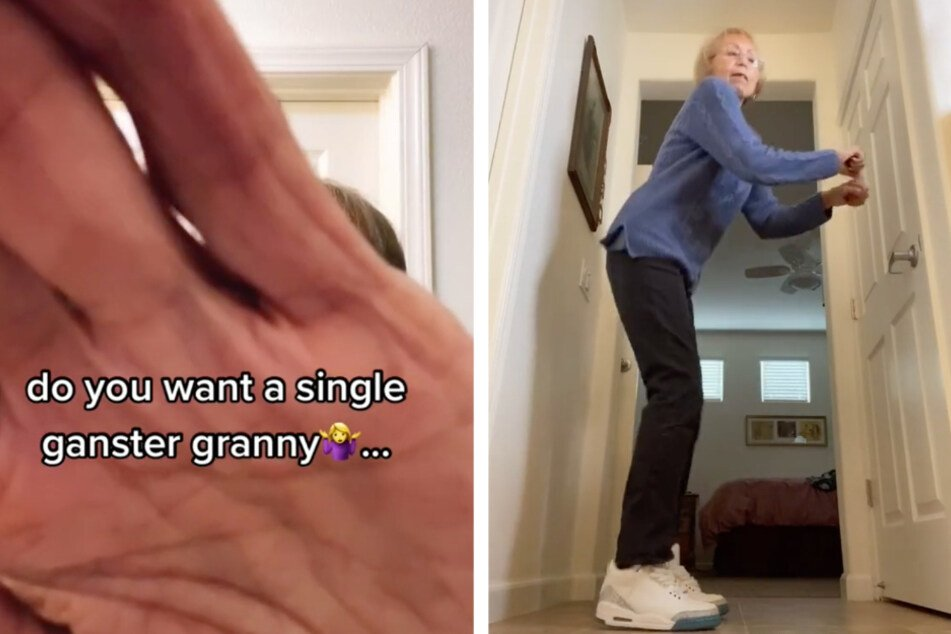 """Awesome """"Gangster granny"""" breaks TikTok stereotypes with fashion reveals"""