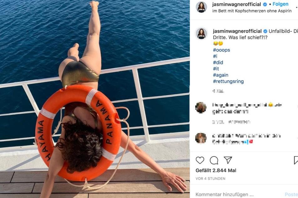"""Auf Instagram teilt """"Blümchen"""" (40) die Bruchlandung."""