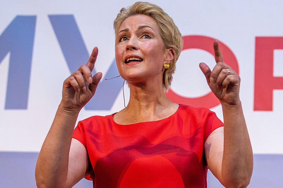 Manuela Schwesig (47), die Ministerpräsidentin und SPD-Landesvorsitzende von Mecklenburg-Vorpommern.