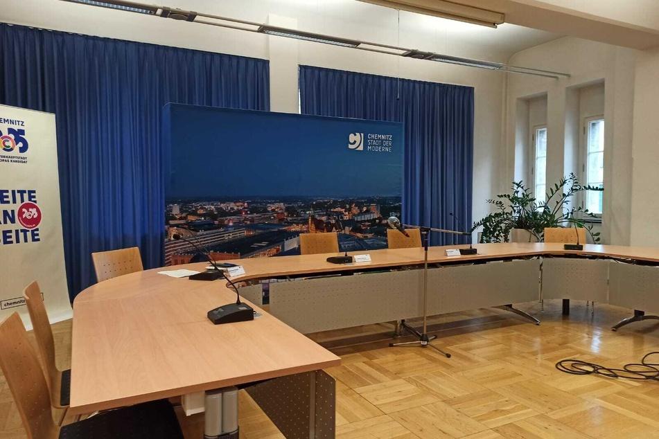 Pressekonferenz zur Corona-Situation in Chemnitz.