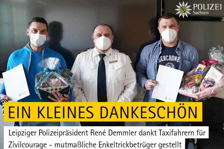 Leipzig: Enkeltrick verhindert: Leipziger Polizeipräsident dankt Taxifahrern für Zivilcourage