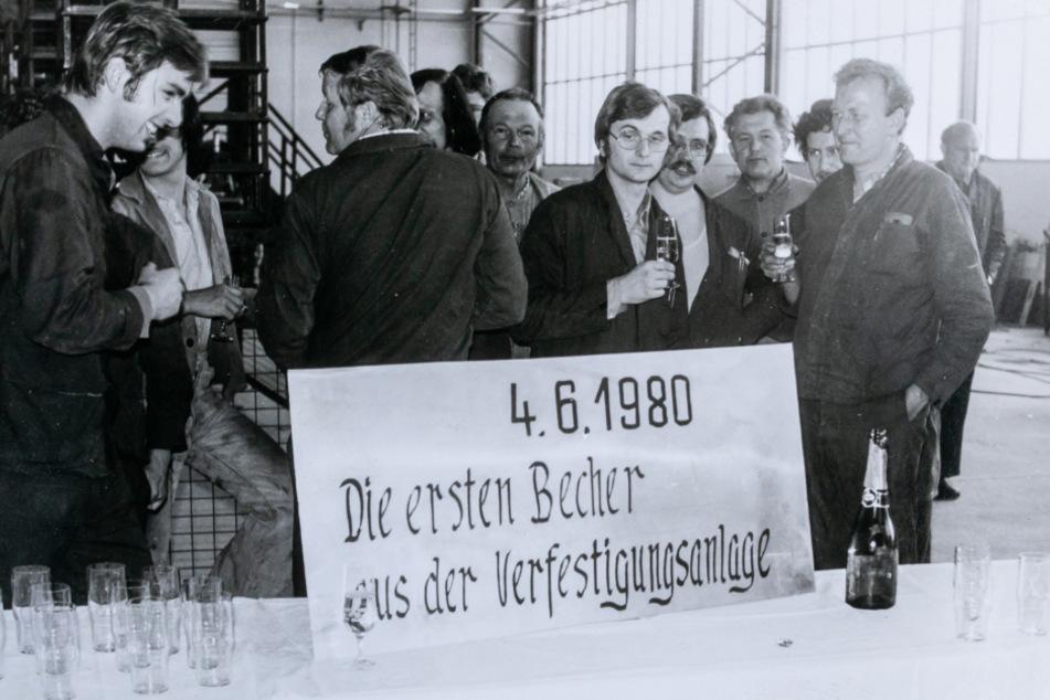 Produktionsbeginn der Superfest-Gläser 1980.