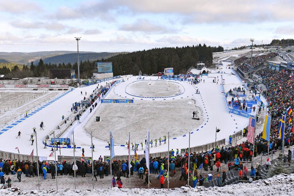 Etwa 18.000 Tickets waren für den rund zweiwöchigen Biathlon-Weltcup Anfang Januar verkauft worden. (Archiv)