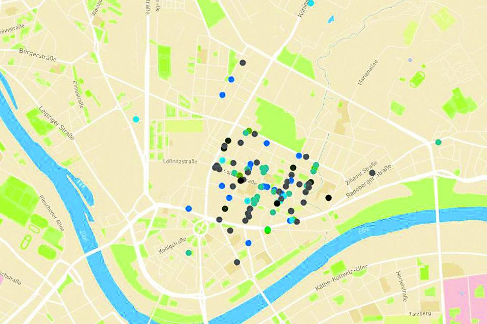 Auf einer interaktiven Karte sind bei neustadt-bringts.de die Angebote der Händler sichtbar.
