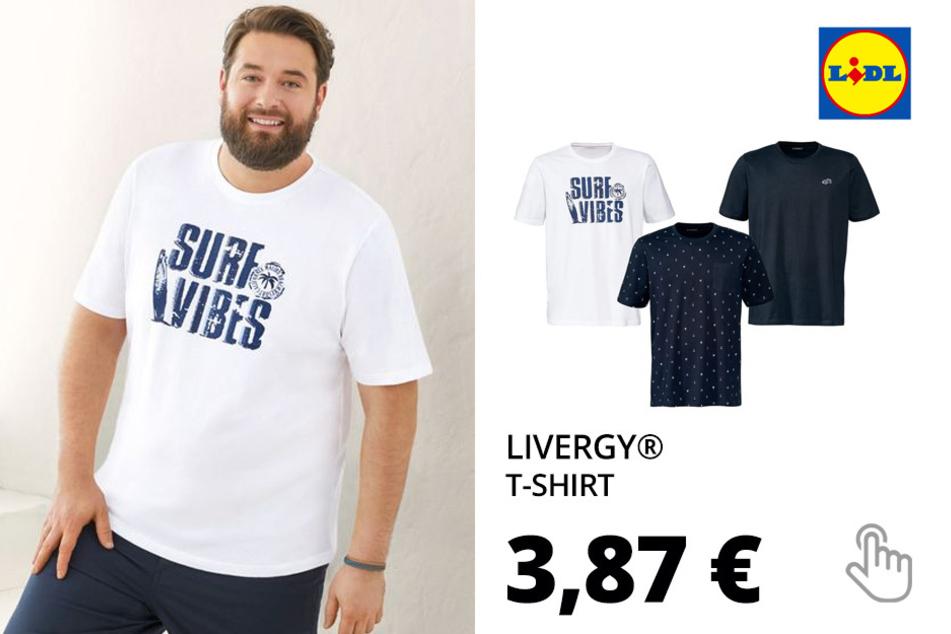 LIVERGY® T-Shirt Herren, aus reiner Baumwolle