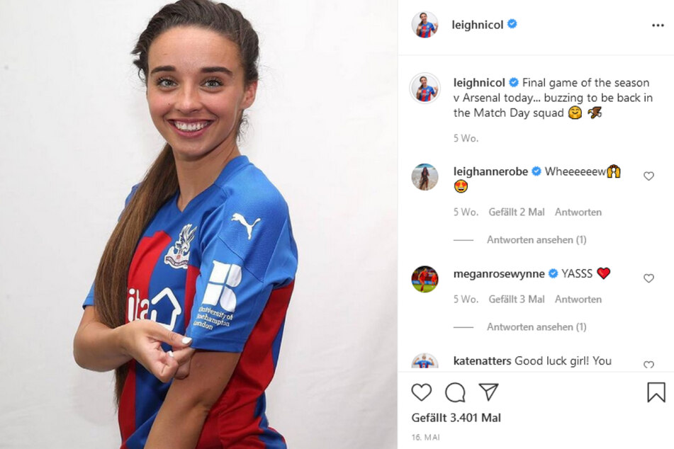 Leigh Nicol (25) spielt beim englischen Fußballverein Crystal Palace.