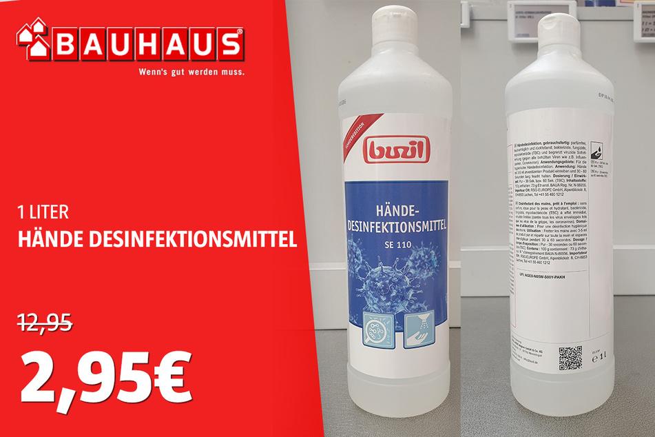 Hände Desinfektionsmittel für 2,95 statt 12,95 Euro