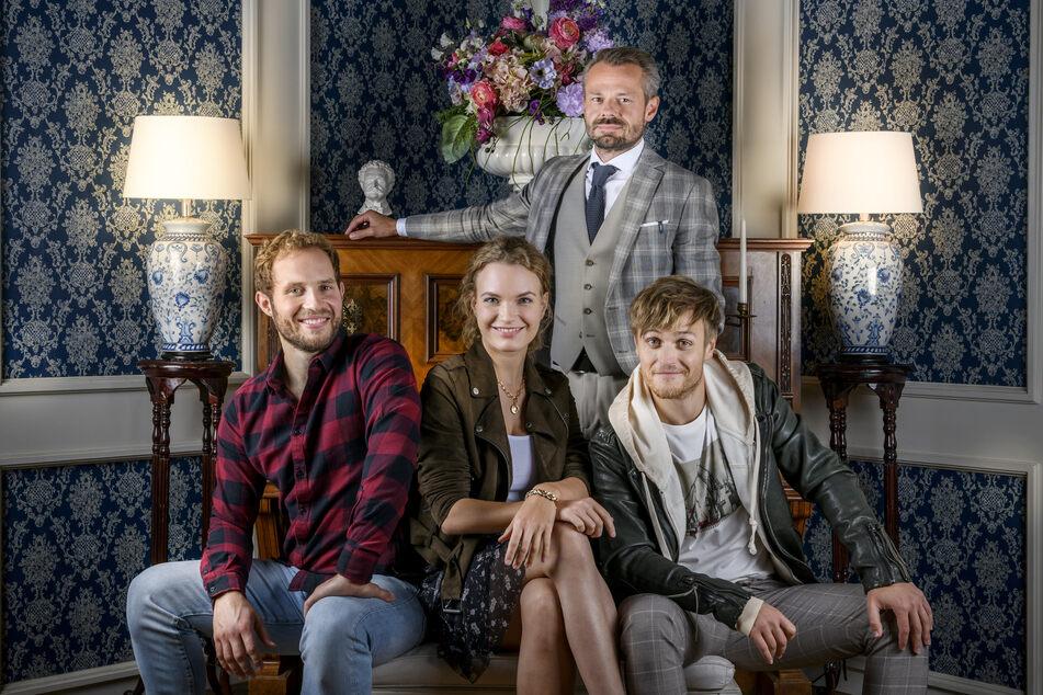 Sturm der Liebe bekommt Unterstützung: (v.l.n.r.) Arne Löber, Christina Arends, Sven Waasner (hinten) und Stefan Hartmann gehören zum festen SdL-Cast.