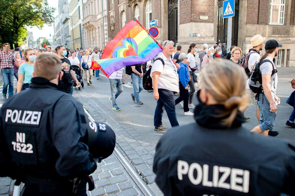 In vielen deutschen Städten wie hier in Hannover gab es zuletzt Demos gegen die Corona-Maßnahmen.