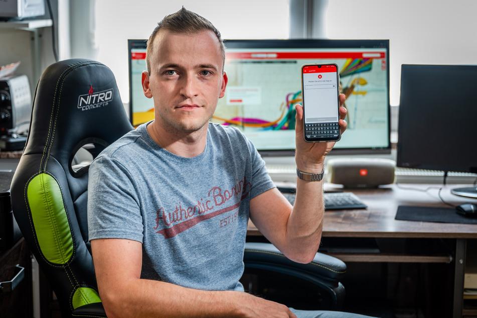 Danny Laßmann (29) aus Auerbach wurde Opfer von Online-Banking-Betrügern.
