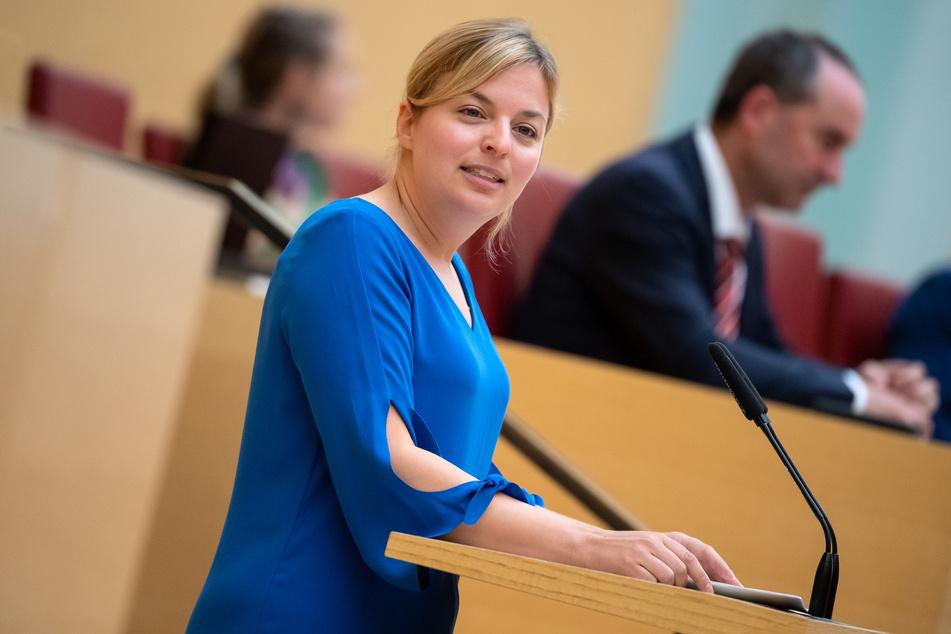 Katharina Schulze ist die Fraktionsvorsitzende von Bündnis 90/Die Grünen im bayerischen Landtag.