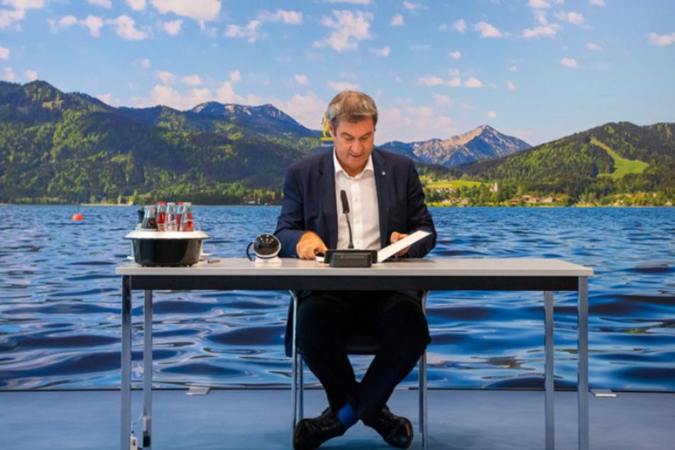 Bayerns Ministerpräsident Markus Söder (54, CSU) stellte die neuen Corona-Regeln vor.
