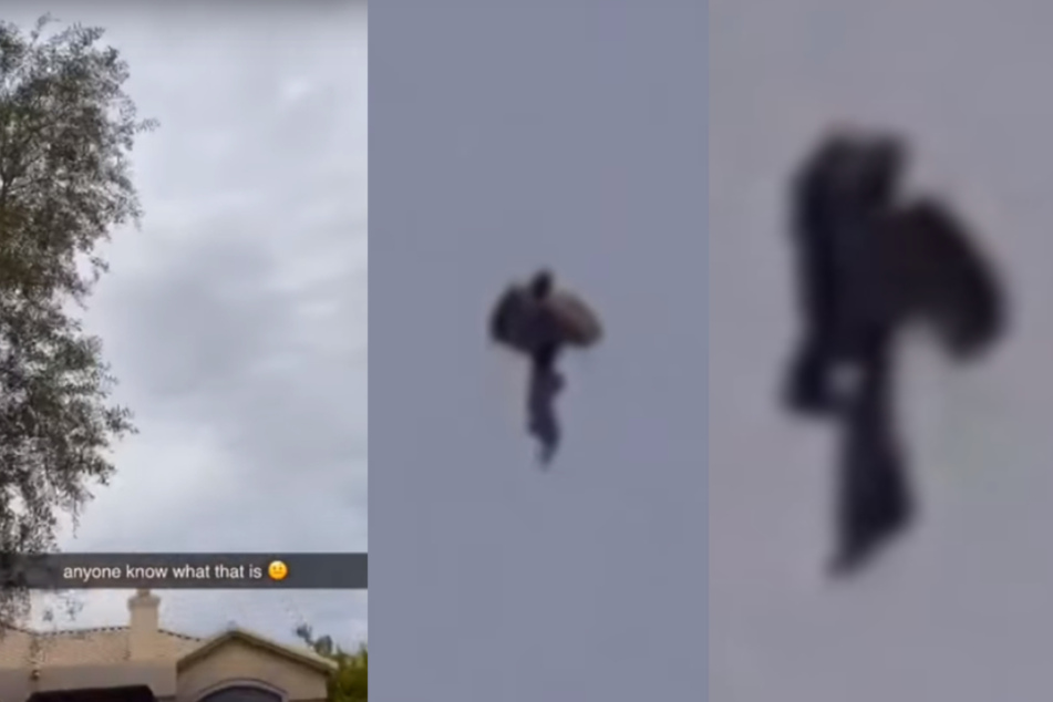 Die gruselige Gestalt scheint Beine und sogar Flügel zu besitzen. Was hat es mit der merkwürdigen Flug-Kreatur auf sich?