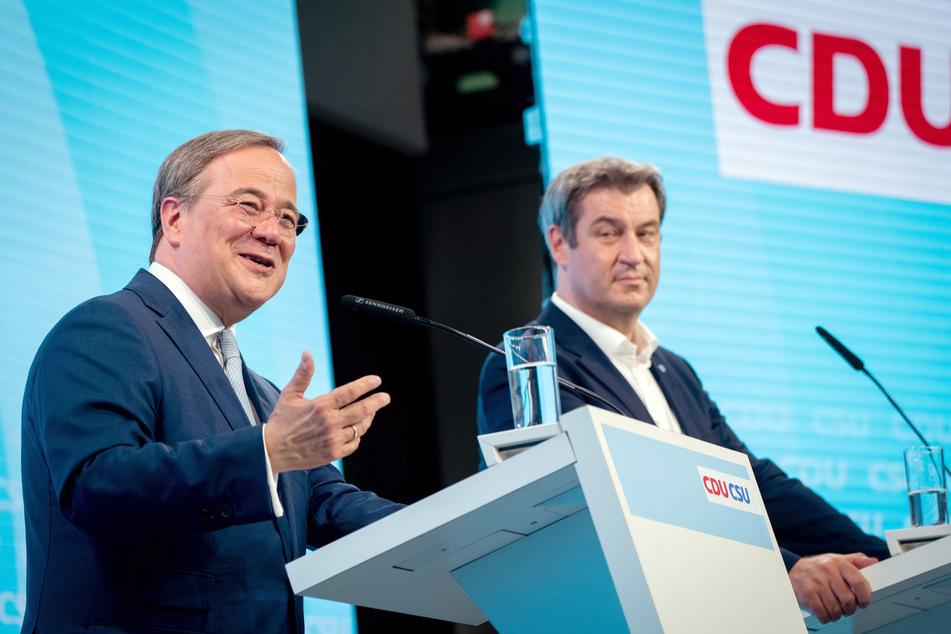 Oft breit grinsend und voller Brüderlichkeit demonstrierten Armin Laschet (60, CDU, l.) und Markus Söder (54, CSU) die Einigkeit der Union.