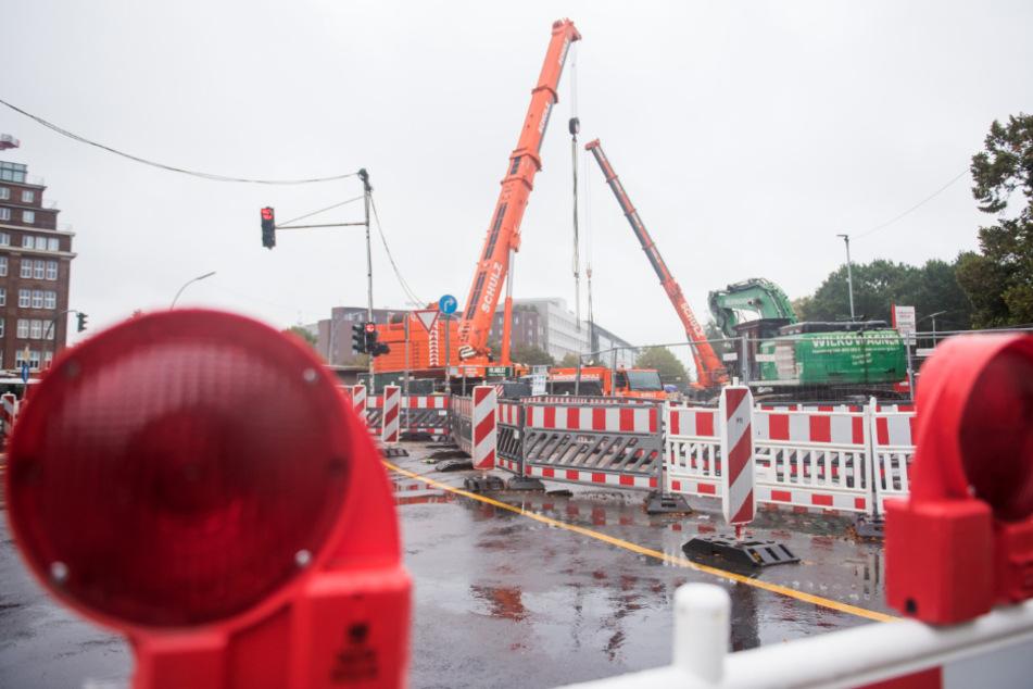Die Amsinckstraße wird über das Wochenende gesperrt.