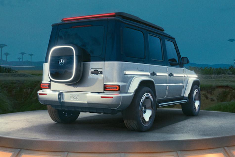 Das Concept-Auto von hinten zeigt die Ecken und Kanten, die auch beim Elektro-G von Mercedes erhalten bleiben sollen.