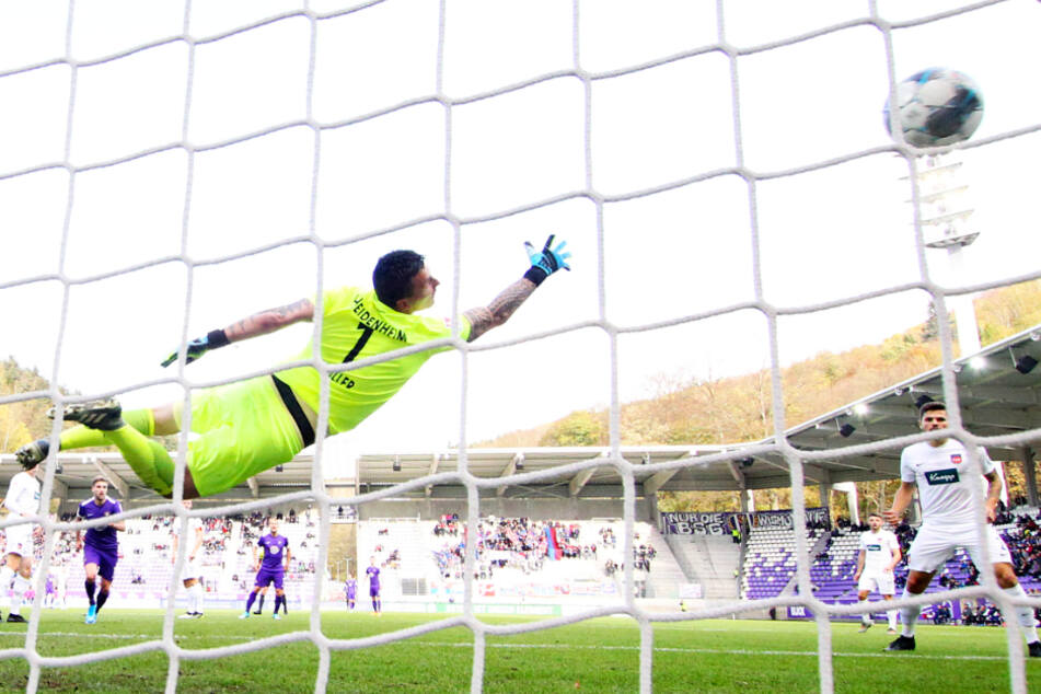 Vor einem Jahr brachte Philipp Riese den FCE mit diesem Treffer 1:0 in Führung - am Ende hieß es 1:1.