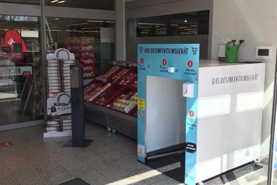 Sieht so die Zukunft aus? Supermärkte testen neue Hygienemethode am Eingang