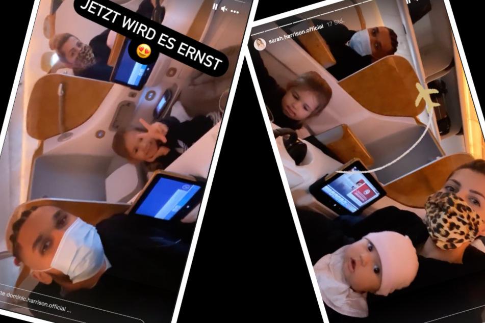Das Influencer-Paar postete Videos von ihrer One-Way-Reise nach Dubai.