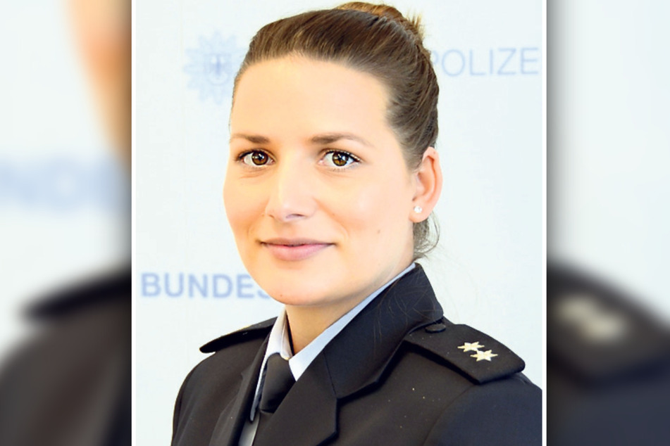 Annekatrin Hafke (34) von der Polizeidirektion Pirna.