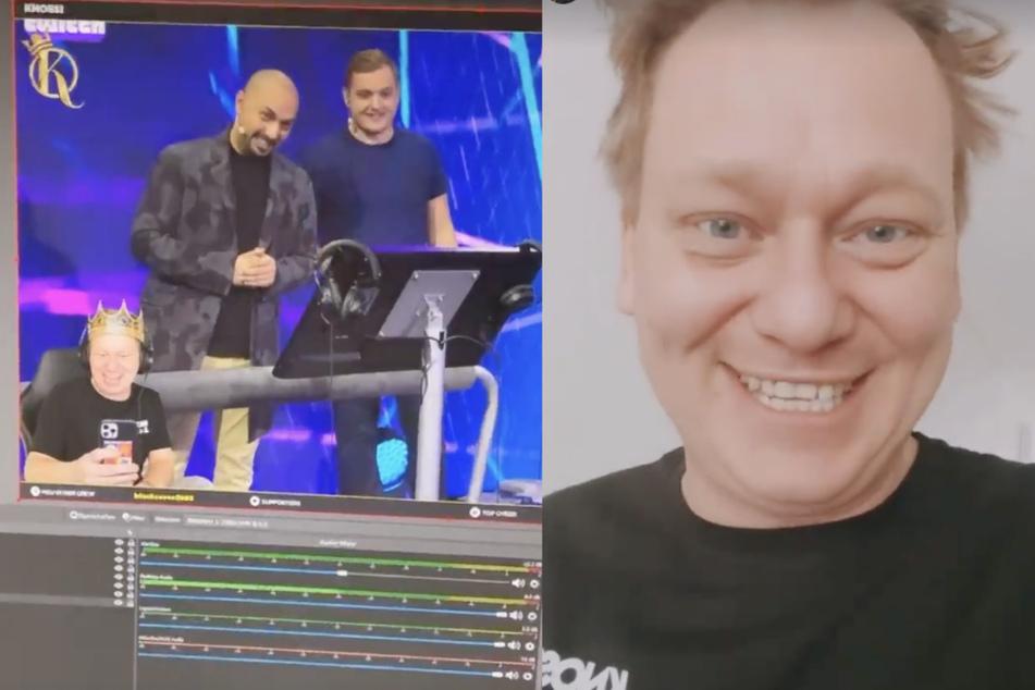 """Jens """"Knossi"""" Knossalla (34) verfolgte die Game-Show """"Teammates"""" seiner Twitch-Kollegen live und trat später in der Aftershow-Party auf. (Fotomontage)"""