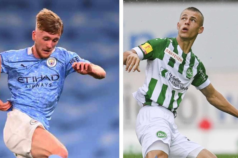 Tommy Doyle (19, links) und Miro Muheim (23) kamen bislang noch nicht für den HSV zum Einsatz.