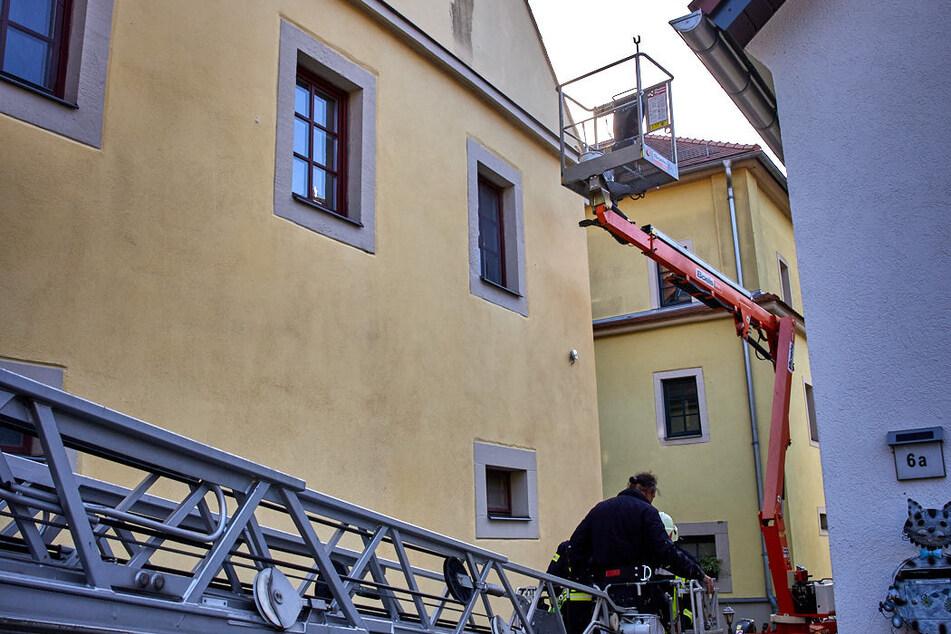 Der Malermeister konnte sicher nach unten gebracht werden.