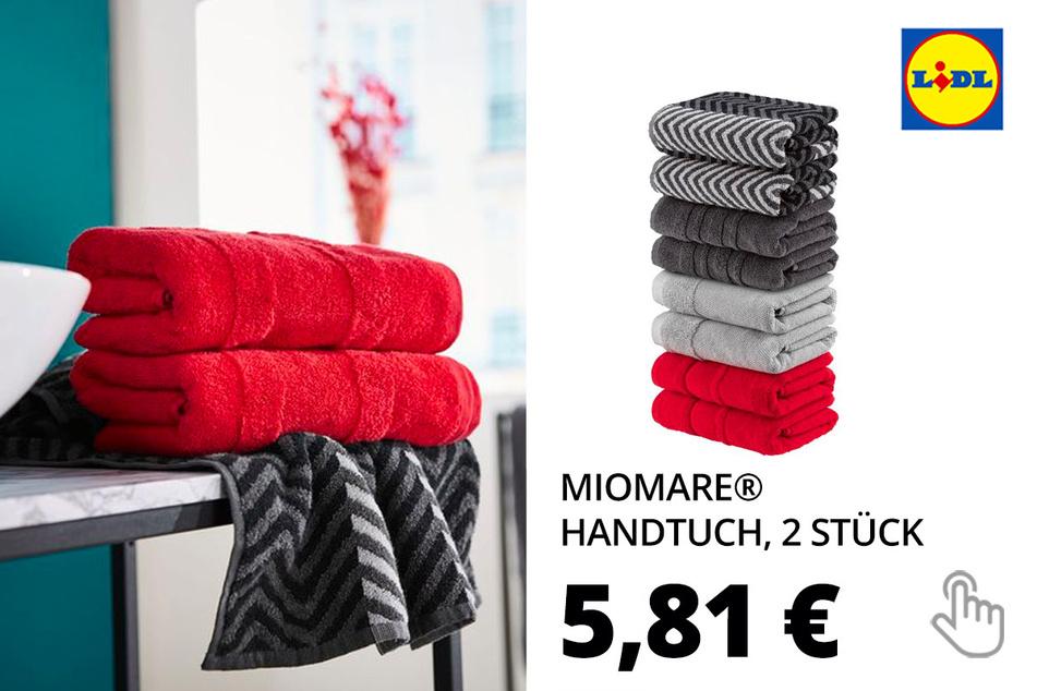 MIOMARE® Handtuch, 2 Stück, 50 x 100 cm, aus Baumwolle