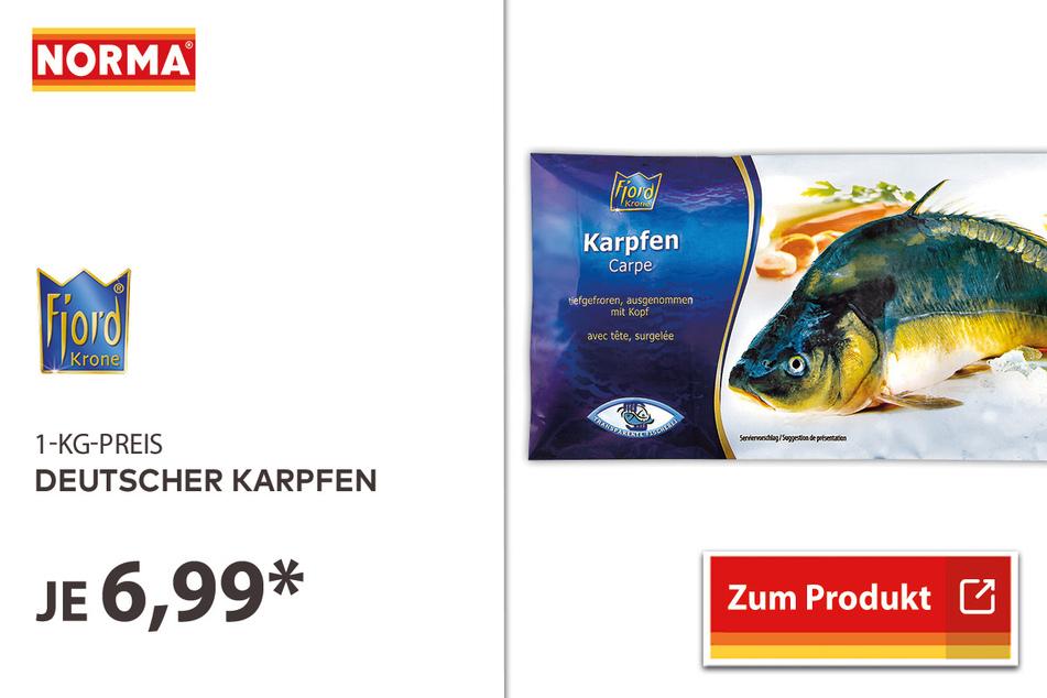 Deutscher Karpfen für 6,99 Euro.