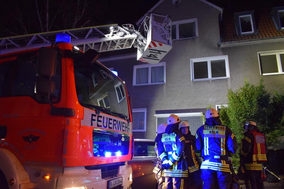 Etwa 25 Kameraden der Feuerwehr Köln waren im Einsatz.