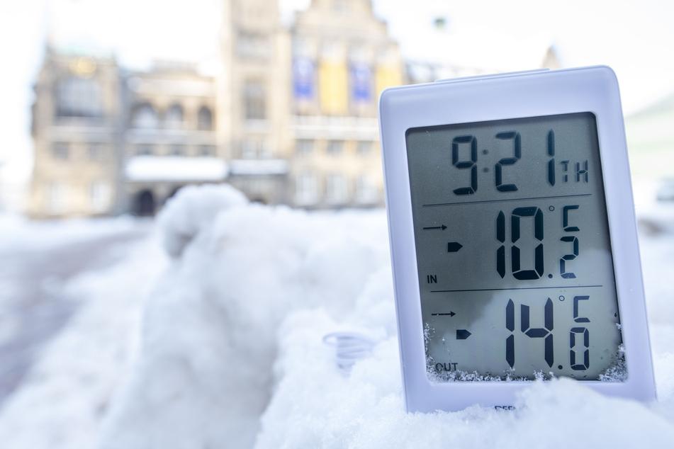 Der Arbeitstag begann bei minus 15 Grad Celsius - und wurde kaum wärmer.