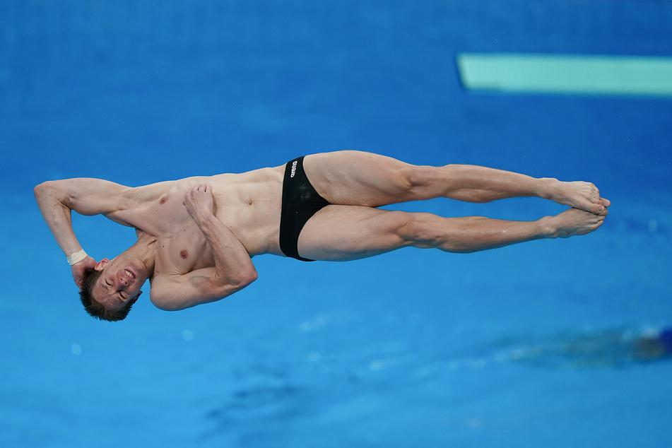 Wasserspringer Patrick Hausding beim Training im Tokyo Aquatics Centre.