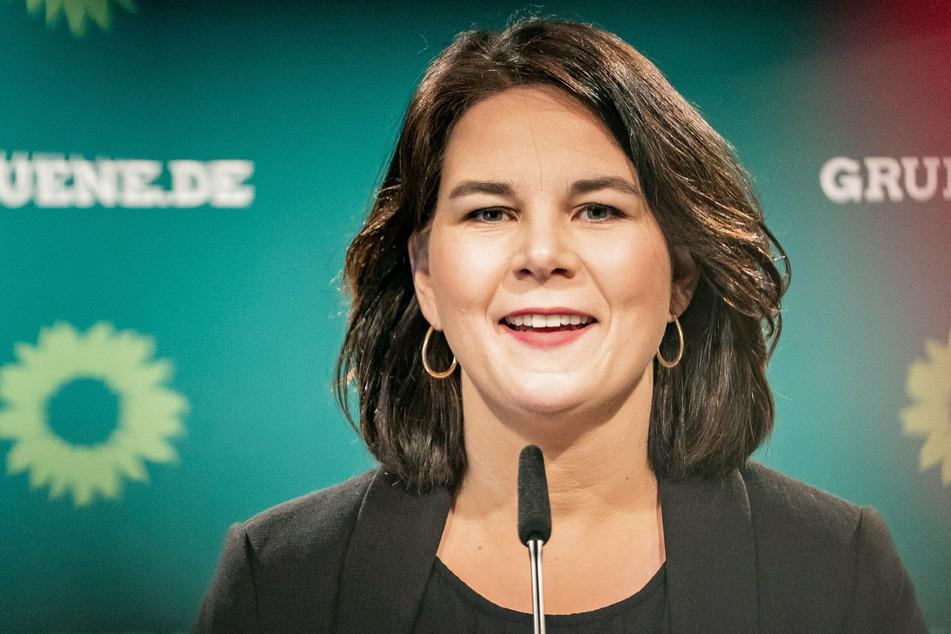 Annalena Baerbock (40), Bundesvorsitzende von Bündnis 90/Die Grünen, spricht bei einer Pressekonferenz nach der Sitzung des Grünen Bundesvorstands.