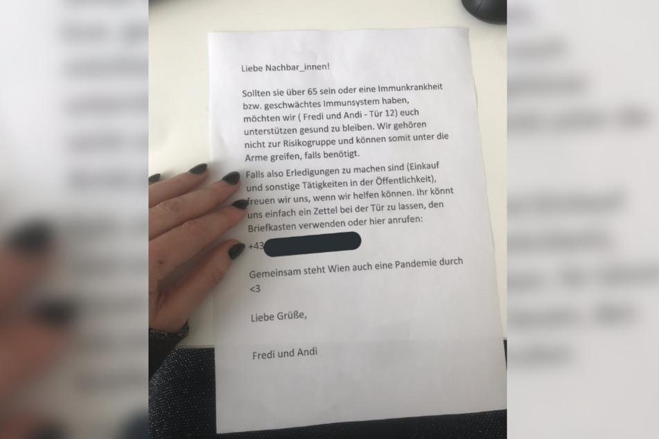 Dieser Nachbarschafts-Brief geht auf Facebook und Instagram viral.