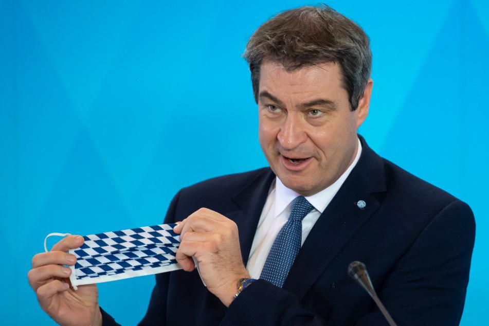 Markus Söder hat sich zur bald gültigen Maskenpflicht in Bayern geäußert.