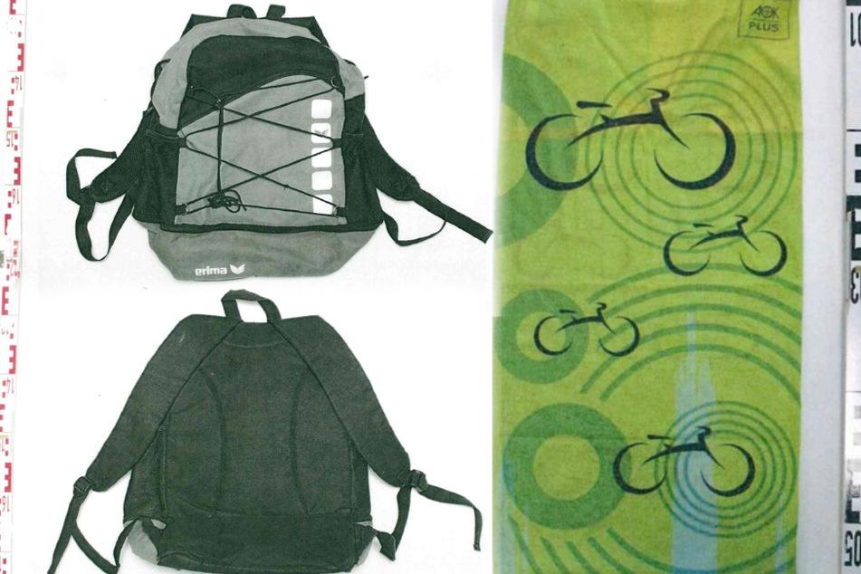 Ein Rucksack und ein Halstuch: Habt Ihr Hinweise zu diesen Sachen?