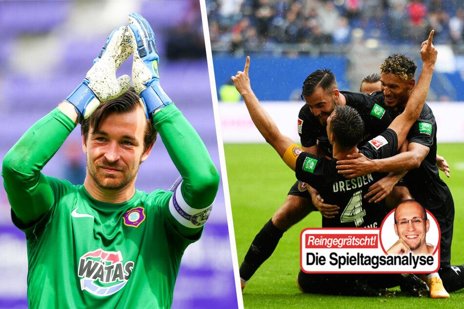 Dynamos Saisonstart geglückt, Aue defensiv stark, offensiv harmlos, BFC Dynamo grüßt von oben!