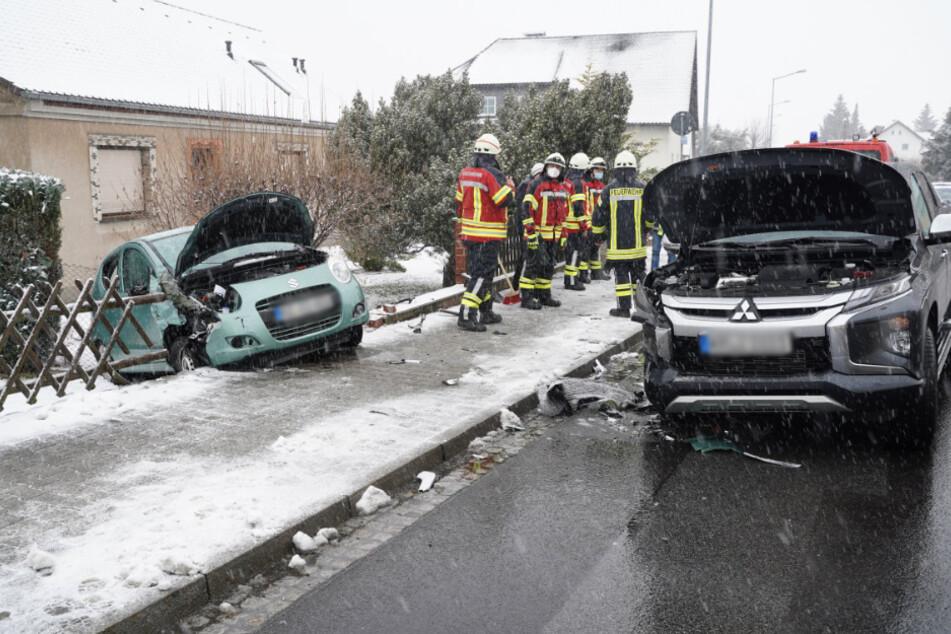 Crash nahe Bautzen auf B96: Unfallopfer in Klinik