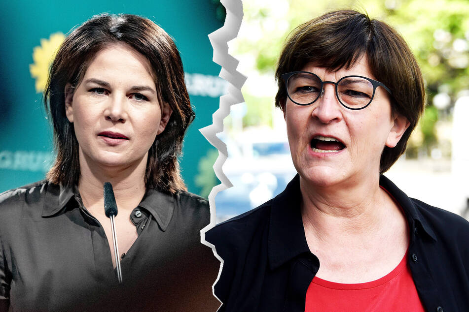 Annalena Baerbock (40, Grüne, l.) ist für eine Preiserhöhung von 16 Cent pro Liter. SPD-Chefin Saskia Esken (59) sorgt sich ums Klima.