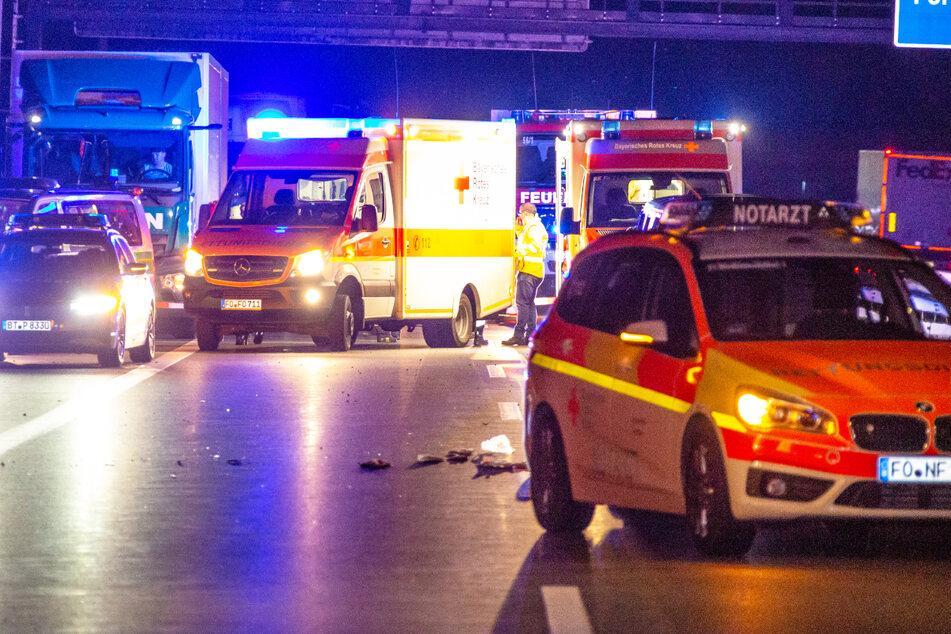 Der Motorradfahrer hatte nach dem Unfall auf der A73 in Bayern keine Chance, starb noch vor Ort.
