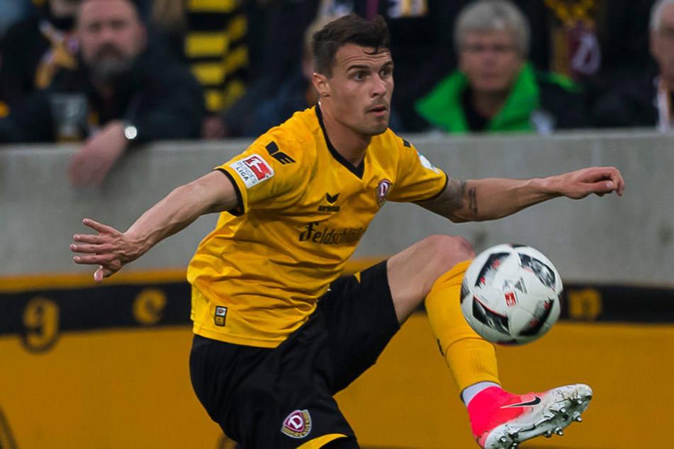 Philip Heise (26) wechselte erst im Winter vom VFB Stuttgart nach Dresden.