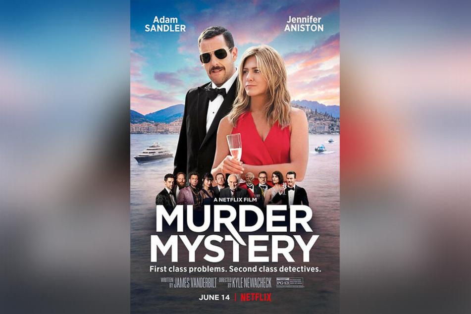 """Das offizielle Filmplakat lässt erahnen, dass sich """"Murder Mystery"""" selbst nicht ganz ernst nimmt."""