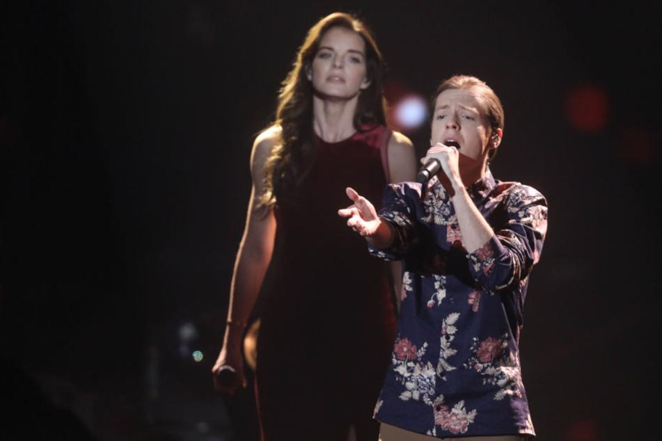 Gemeinsam mit ihrem Kandidaten Benjamin sang Yvonne Catterfeld im Finale.